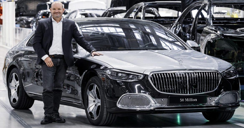 مرسيدس تحتفل بإنتاج السيارة رقم 50 مليون فى تاريخها والتى كانت من طراز مايباخ S كلاس