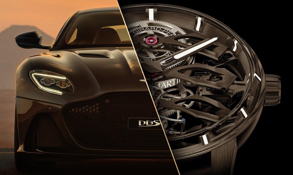 """ساعة """"توربيون بالجسور الطافية الثلاثة – إصدار Aston Martin"""""""